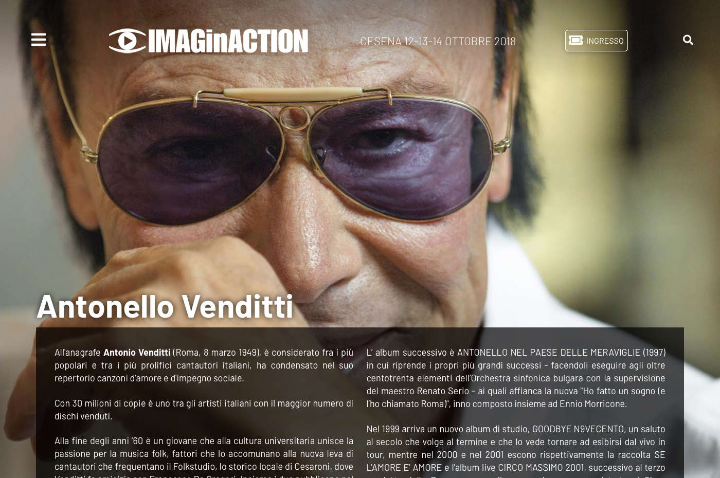 IMAGinACTION - Antonello Venditti